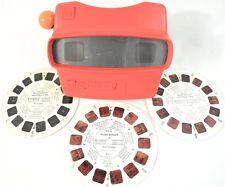 Vintage Gaf Red View Master w/ 3 Reels - Bugs Bunny