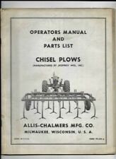 Allis Chalmers Chisel Plows Operators Manual And Parts List Tpl 420a