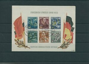 Germany-GDR-vintage-yearset-1955-Mi-Block-13-Stamped-Used-Corner-Rest-of