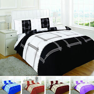 Duvet-Cover-or-Complete-Set-Campus-With-Pillow-cases-Single-Double-King-Super