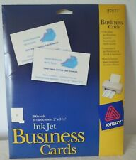 Avery Inkjet Printer Diy Heavyweight Quality Business Cards 200 Count 27871