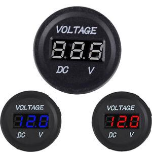 Image Is Loading Socket Digital Led Display Battery Gauge Car Voltmeter