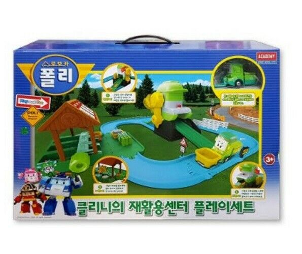 Robocar Poli Toys Cleany's Recycling Center & Die-cast Figure Playset_rmga