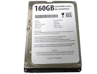 160gb 5400rpm 8mb 2.5 Sata2 Hard Drive For Ps3 /laptop, Free Shipping