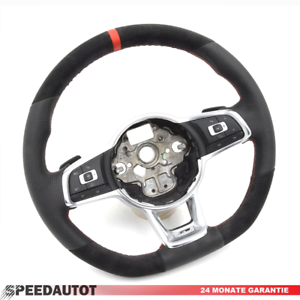 Volant-W-GOLF-7-verticale-Volant-en-Cuir-3-Rayons-AMF-Boutons-balancent-5g0419091jh