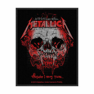 METALLICA-Wherever-I-May-Roam-Woven-Sew-On-Patch-Official-Licensed-Merch