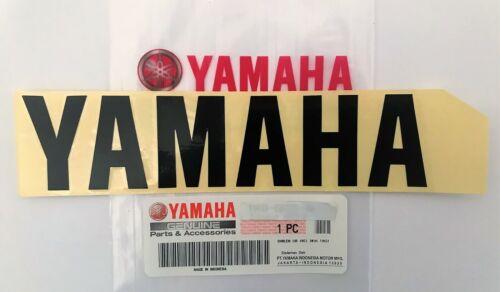100/% Genuine Yamaha 160mm X 37mm Noir Autocollant Emblème Badge ** UK Stock **