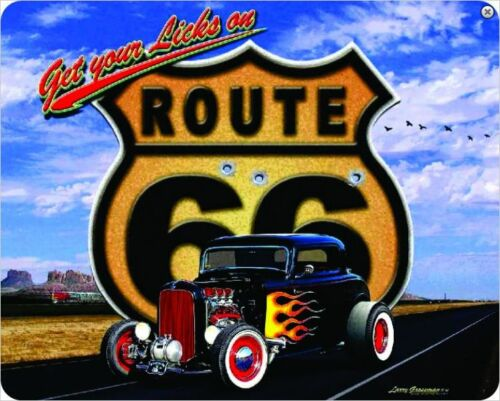 sf Get Your Licks On Route 66 Metal Sign  375mm x 300mm