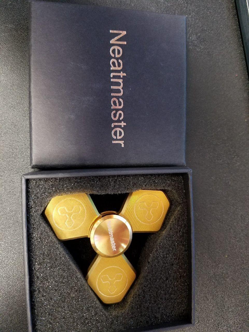 HUGE LOT of 40 New in box Brass Fidget Spinners Metal Brass