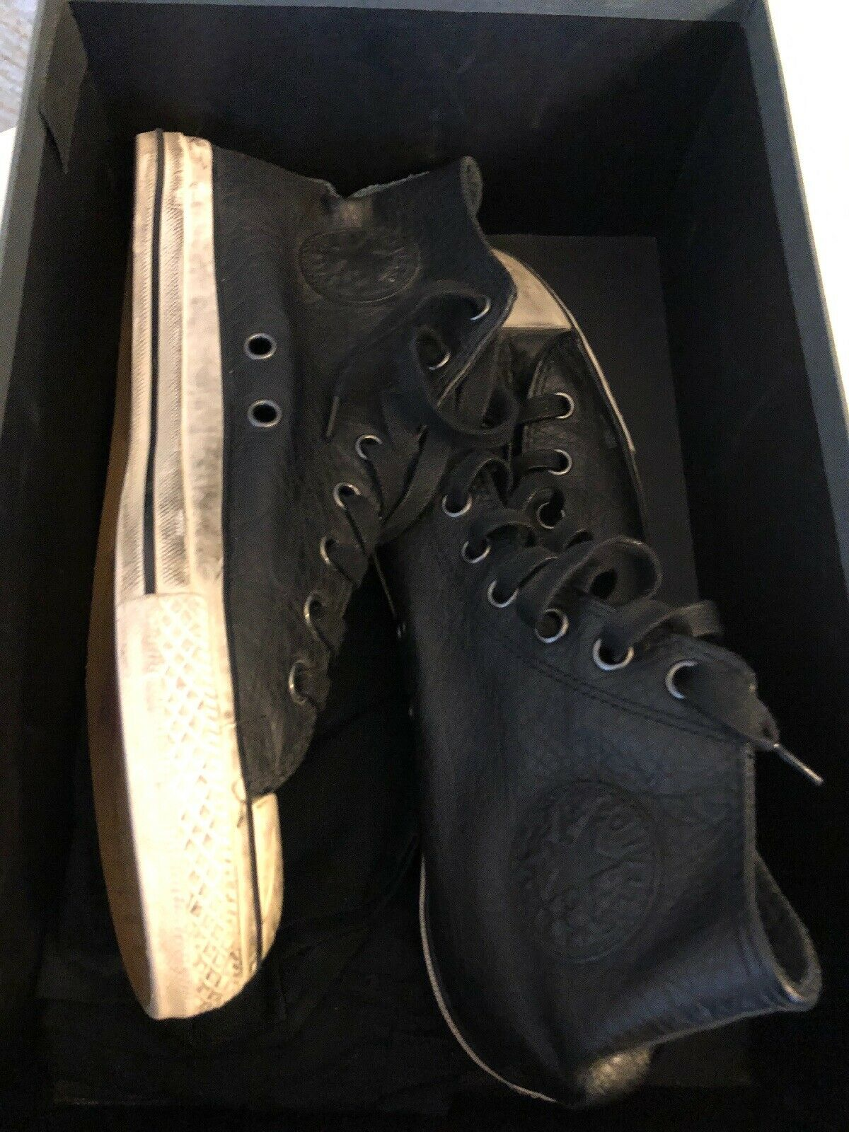 John varvatos converse 10.5 Leather Allstar nero Hightop Mint CTAS HI Slash GnR
