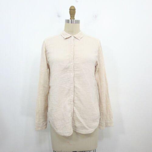 S - Xirena Pink Button Up Gauzy Knit Scout Long Sl