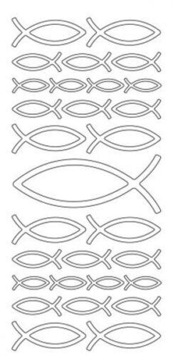 euchartische Fische sortiert Format 10x23cm von HobbyFun in Weiss