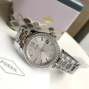 Fossil-Watch-ES4317-Scarlette-Crystals-Silver-Steel-Date-for-Women-COD-PayPal