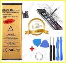 Batteria Iphone 5S da 2680 mha qualità GOLD + KIT fai da te + vetro temperato