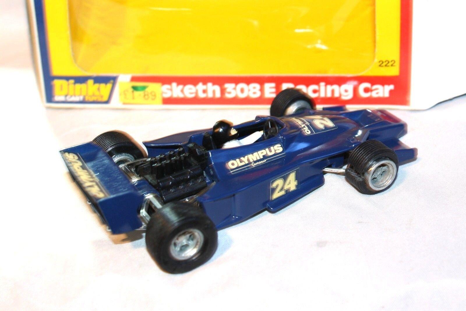 Dinky 222 Hesketh Racing Car 308E Mint in Good Original Original Original Box e748b5