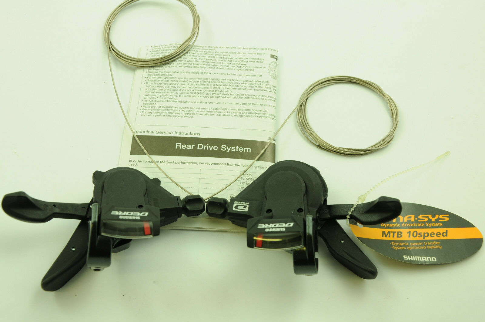 PAIR (R & L) SHIMANO SL-M591 DEORE 30 SPD (10x3)  DYNA-SYSTEM RAPID FIRE SHIFTER  welcome to buy