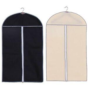 BREATHABLE-ZIP-UP-HANGING-SUIT-DRESS-COAT-GARMENT-BAG-CLOTHES-COVER-DUSTPROOF