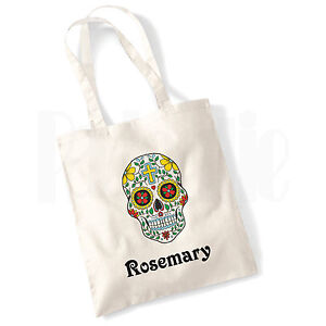 9d2f109d1d49 Details about Personalised 'Skull #ROBLVI' Canvas Tote Bag GIFT FOR GIRLS  LADIES WOMEN