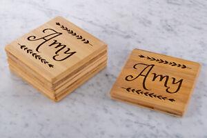 Personalised-Engraved-Wooden-Bamboo-Coasters-Wedding-Gift-Custom-Rectangle
