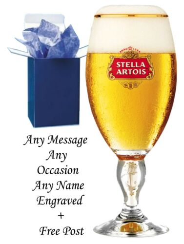 Personalised Stella Artois 1 Pint Chalice Beer Glass Engraved Best Man Gifts