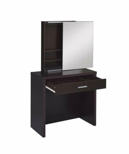 Coaster Home Furnishings 2-piece Vanity Set with Hidden Mirror Storage and Lift