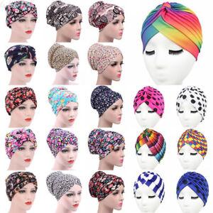 Women/'s Chemo Cap Cancer Hat Muslim Hair Scarf Turban Hijab Head Wrap Cover Lot