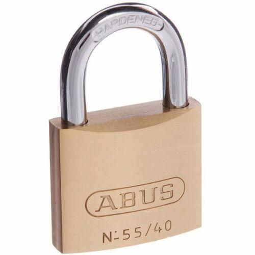 ABUS Padlock 55//40 40mm KEYED TO DIFFER Brass Bodied Padlock-FREE POST