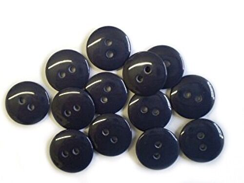 RM CODE B40002 30L NAVY 2 HOLE RESIN SEWING BUTTONS SCRAPBOOKING 19MM DIAMETER