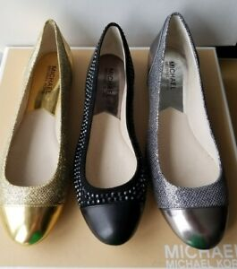 fa4242c72e94 Image is loading MICHAEL-KORS-SHALA-CLASSIC-GLITTER-MESH-CRYSTALS-SUEDE-