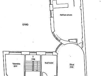 1620 vær. 5 lejlighed, m2 212, Vesterbrogade
