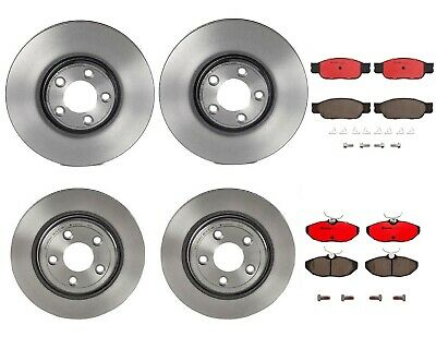 Fit Jaguar S-Type Vanden Plas XJ8 Front Blank Brake Rotors+Ceramic Brake Pads