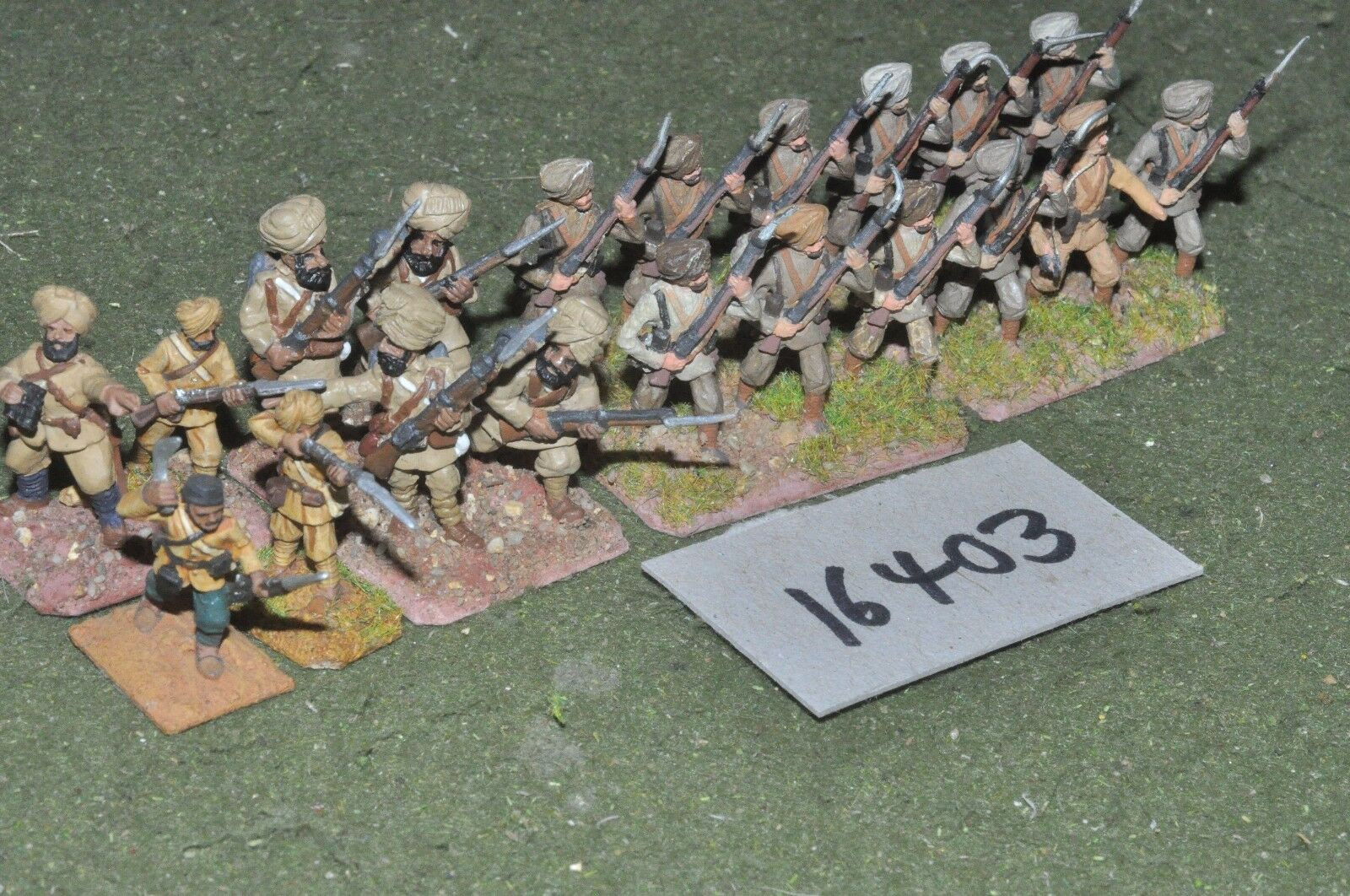 25mm WW2   british - indian infantry 20 figs world war 2 - inf (16403)