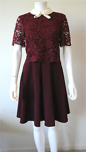 d19344b8ccadcc New Ted Baker London  335 DIXXY Layered Lace Dress In Oxblood
