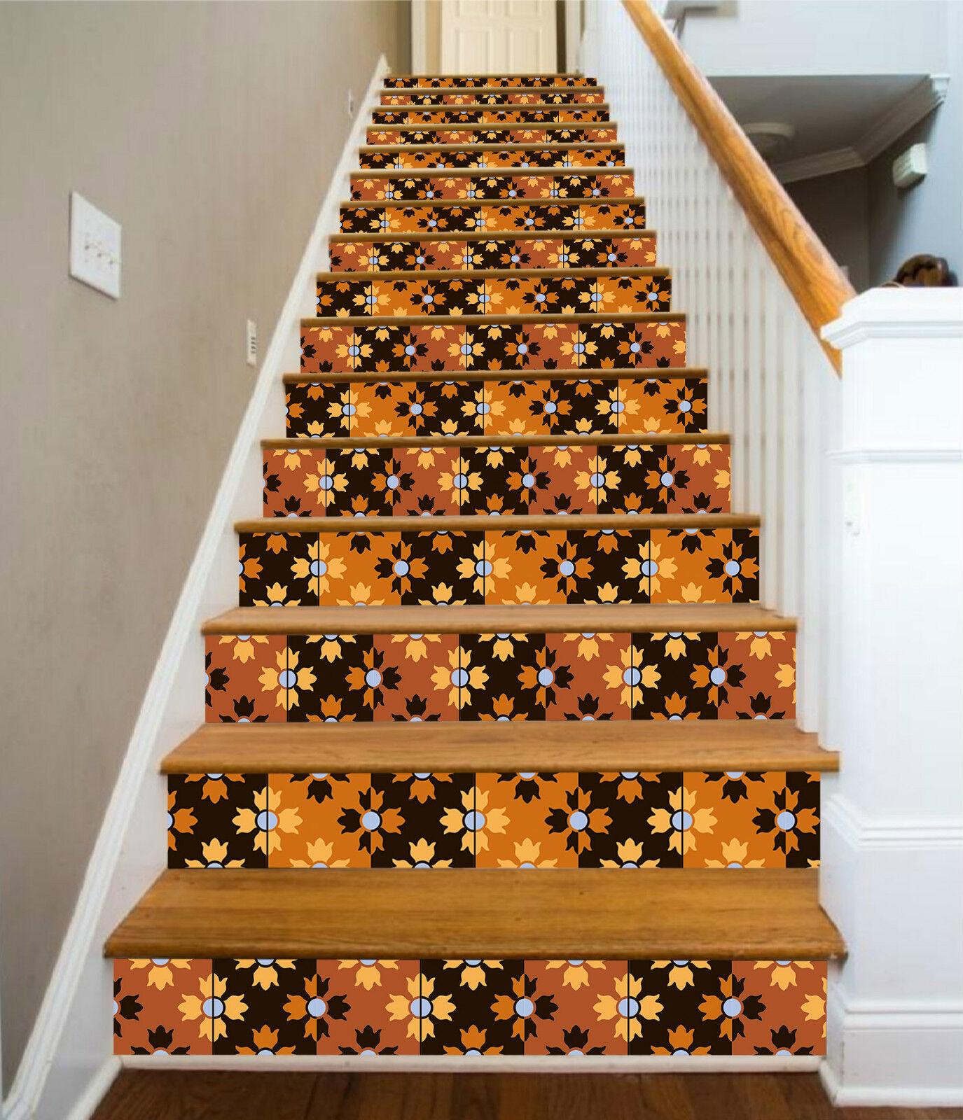 3D Blätter 523 Stair Riser Dekoration Fototapete Vinyl Aufkleber Tapete DE Lemon