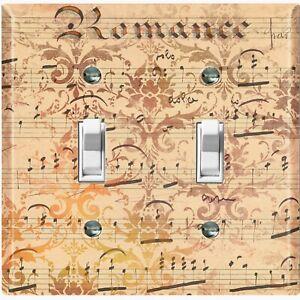 Metal Light Switch Cover Wall Plate Music Note Sheet Wallpaper Romance Mus001 Ebay