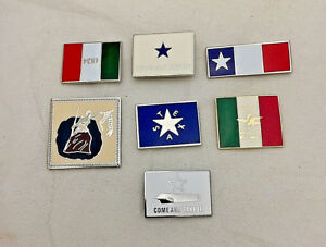 Battle-Flags-of-the-Texas-Revolution-7-pin-set-Tie-Tac-Lapel-Pin