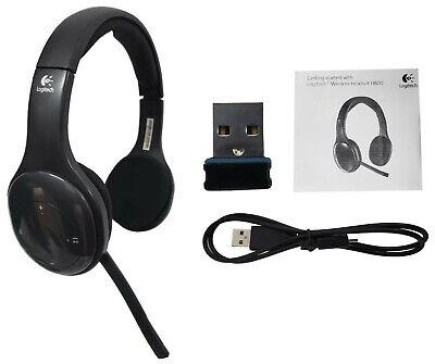 Logitech H800 Wireless Computer Headset Noise Cancellation 981 000337 Black New Ebay