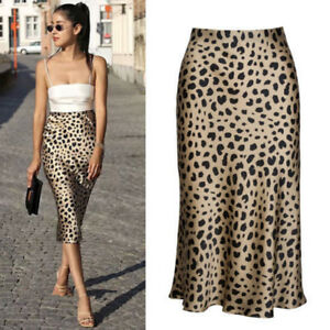 2019 professional search for authentic real deal Details about Womens Summer Stunning Leopard Print Midi Skirts Dress  Multiple Pencil Skirt