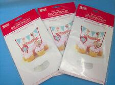Valentine's Day Decoration Kit Cakes Cupcakes Banner & 2 Picks Lot of 3 Packs
