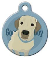 Good Boy Labrador Retriever - Custom Personalized Pet Id Tag For Dog Collars