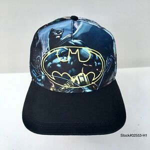 low priced a7712 515c9 Image is loading Batman-Hero-Youth-Snapback-Flat-Bill-Cartoon-DC-
