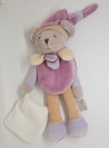 Doudou-et-compagnie-collectors-souris-poudre-pantin-mouchoir-violet-beige-blanc