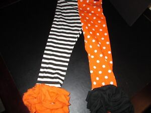 Mud-Pie-Halloween-Orange-and-Black-Tights-Size-4T-New