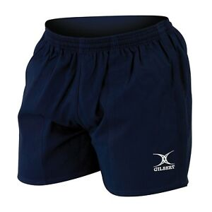 Gilbert Mercury Cotton-Drill Rugby Shorts - Navy  - Sizes S - 5XL