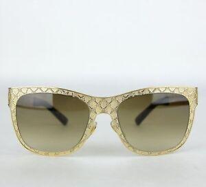 01990db56 Gucci Gold Metal Diamante Mesh Sunglasses GG 4266/S J5GJD 375746 ...