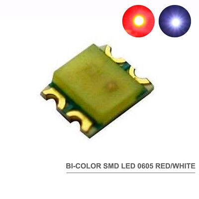 SMD LED weiß//orange Doppelchip Bi-Color 0605 NEU 0605WOR 100 Stk