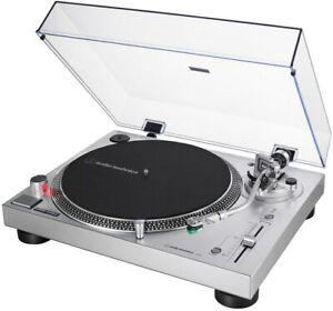 Audio-Technica AT-LP 120 xusbsv tocadiscos con at-vm95e fonocaptor plata