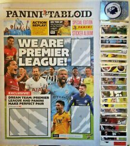 PANINI-TABLOID-2019-PREMIER-LEAGUE-COMPLETE-SET-OF-120-STICKERS-EMPTY-ALBUM