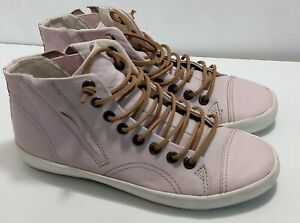Details about Light pink leather high top sneakers