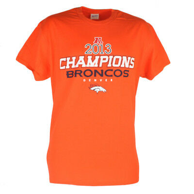 Humorous Nfl Denver Broncos Offside 2013 Champions Mens Tshirt Champs Tee Orange Baseball & Softball